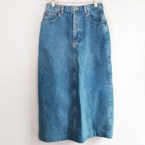 Vintage Classic Calvin Klein Denim Midi Skirt